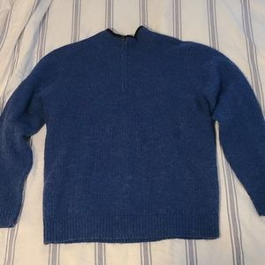 Pendleton Blue Wahsable Wool Zip Up Sweater